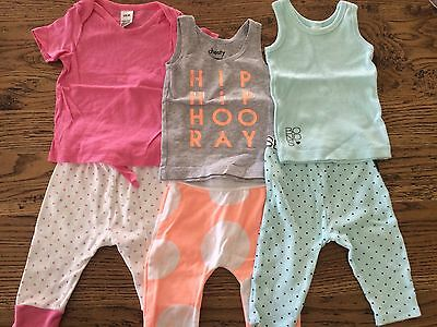 Bonds Girl's Outfits x 3 - tops and leggings size 00/3-6 months