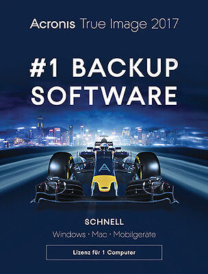 Acronis True Image 2017 -Upgrade auf 2018 möglich 1 PC/Mac Dauerlizenz Download