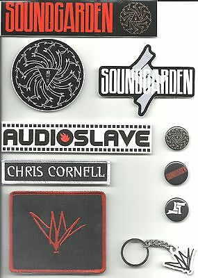 CHRIS CORNELL bunch of 10 - 2011 IRON/SEW ON PATCH SET soundgarden / audioslave