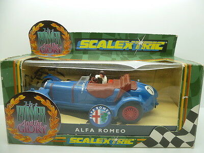 Scalextric C306 Alfa Romeo, unused car but box not perfect