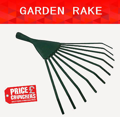 Garden Rake Head Replacement Strong Grass Leaf Lawn Leaves Hand Tool Gardening