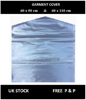 Strong Clear Polythene Garment Cover Clothes Suit Dress Dry Cleaner Bags