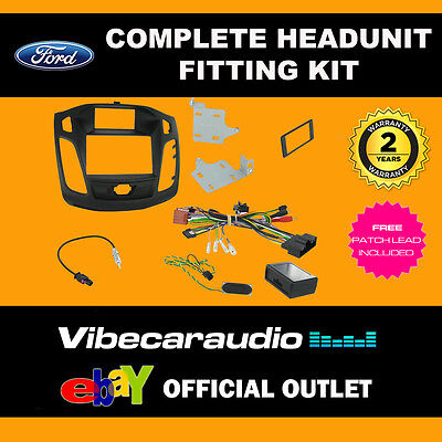 Connects2 CTKFD30 FORD Focus 2011> Double Din Fitting Kit Fascia, Stalk Adaptor