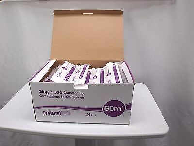 Enteral-saf Catheter 60ml Sterile Syringe -Oral/Enteral (Pack of 50) use by 2021
