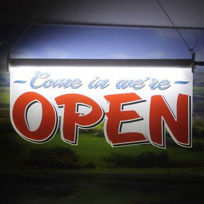 LED Open Sign, Super Bright Hanging Illuminated Open Sign, Shop Light Up Sign