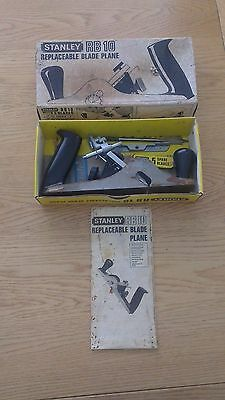 Stanley Rb 10 Replaceable Blade Plane - Made In England - Pictures++