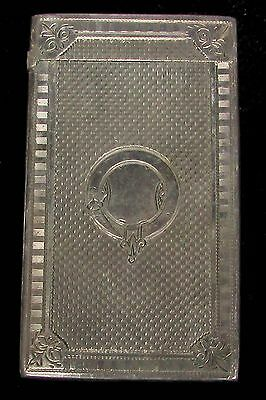 Nice Victorian Birmingham Sterling Silver Card Case