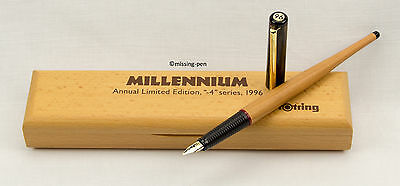 Rotring Art Pen Millenium Limited Edition 1996 wood Fountain Pen with wood box