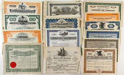 Oil Company Stock Certificate Collection (60+) (p#1144)