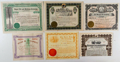 Best Group of Texas Oil Stock Certificates (6) (p#1143)