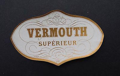 Ancienne étiquette VERMOUTH SUPERIEUR Victor Palyart old french label