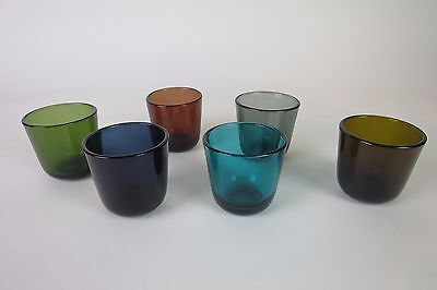 NUUTAJÄRVI Kaj Franck Coloured 5023 Shot Glass Set of 6 Finland 6 cl 50s VINTAGE