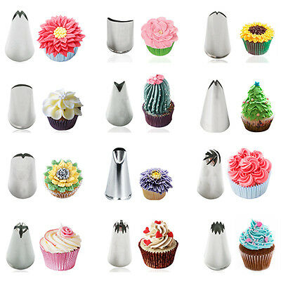Russian Flower Leaf Icing Piping Nozzles Cake Decoration Tips Baking Tools New