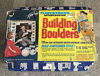 Kenner  Flintstones  Interlocking Building Boulders  C. 1962  Styrofoam  Boxed