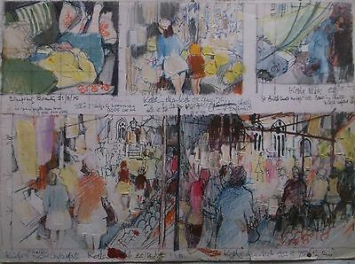 COLOURED GRAPHITE DRAWING by FREDERICK GEORGE WILLS 1901-1993 R.I. LIFE STUDIES