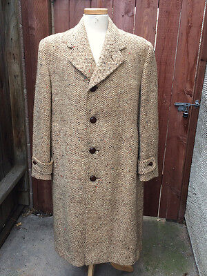 Vintage 1940's 1950's British Heavy Wool Coat Overcoat by Hector Powe!