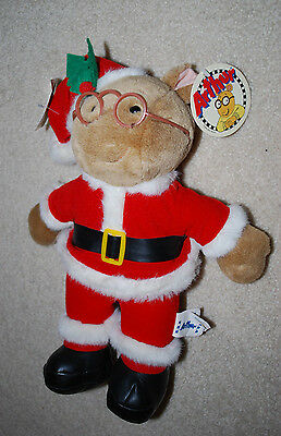 "Arthur Santa Claus Suit Plush Doll Toy Stuffed Animal 13"" NWT 2000 Holiday HTF"