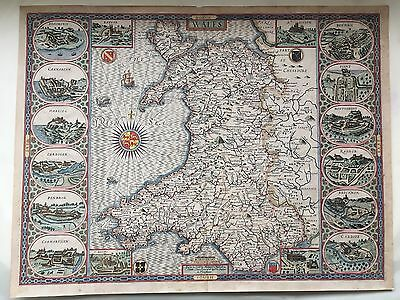 antique map: Wales, by John Speed