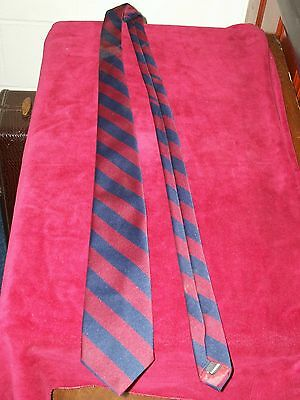 Vintage Blue & Red Striped by Giancarlo  Men's Tie Mint Condition