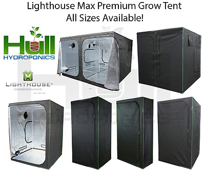 LIGHTHOUSE MAX Premium Portable Grow Tent Green Room Silver Mylar Hydroponics