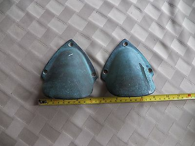 Pair Clam Shell Bronze Boat Cowl Vent  Marine  Boat Ship Brass