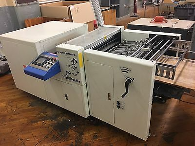2012 Graphic Wizard XDC 660A UV Coater with feeder
