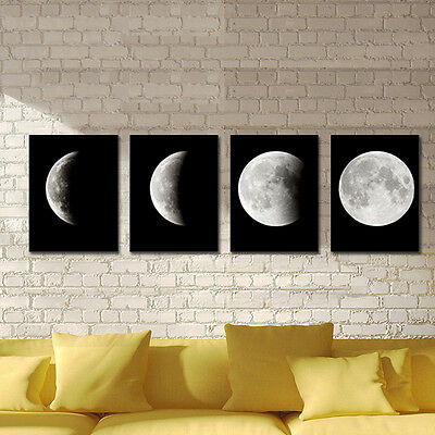 Canvas Print Painting Picture Home Decor Wall Art Abstract Poster Moon Framed