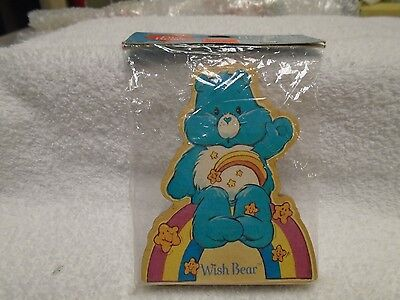 1984 CARE BEARS Wood Figurine American Greetings Wish Bear