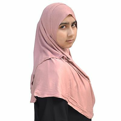 US Seller ~ Hayaa MISTY ROSE Ready-to-Wear Instant Jersey Hijab 2 Face Loop