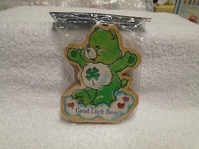 1984 CARE BEARS Wood Figurine American Greetings Good Luck Bear