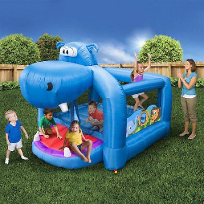 Inflatable Bouncer Outdoor Playground Equipment Happy Hippo Bouncer Children New