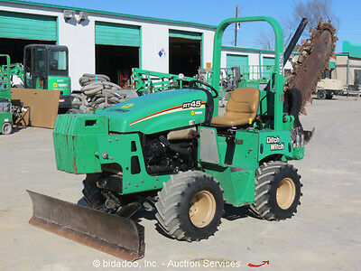 2013 Vermeer RT450 Ride-On Trencher Side Shift 4WD Hydraulic Dozer Blade bidadoo