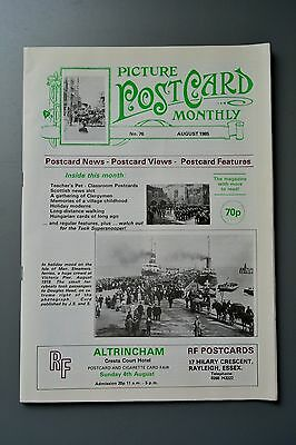 R&L Mag-Picture Postcard Monthly 1985 Aug Clergymen/Bamforth Teacher Comic