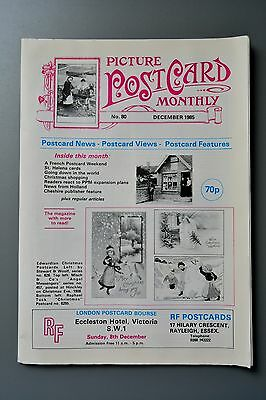 R&L Mag-Picture Postcard Monthly 1985 Dec LL/Christmas Bamforth/Thomas Swift