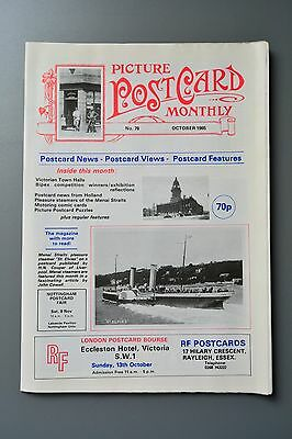 R&L Mag-Picture Postcard Monthly 1985 Oct Menais Straits Steamers/Elmer Keene