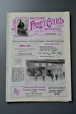 R&L Mag-Picture Postcard Monthly 1985 Sept 1920s Football/Merchant Shipping