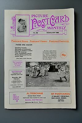 R&L Mag-Picture Postcard Monthly 1986 Feb Children's Cards/Courting Couples