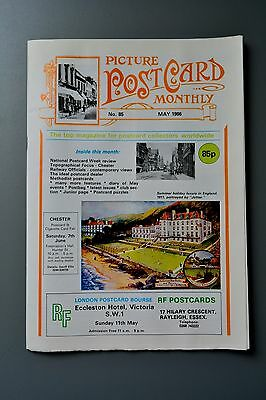 R&L Mag-Picture Postcard Monthly 1986 May Methodist/Chester/Fred Spurgin List
