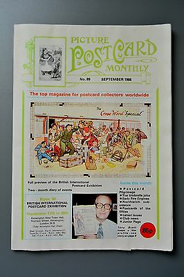R&L Mag-Picture Postcard Monthly 1986 Sept Rat Rodent/Perambulators/Bipex