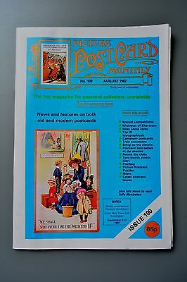 R&L Mag-Picture Postcard Monthly 1987 Aug Clowns/Seaside Comics/Goss China Cards