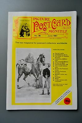 R&L Mag-Picture Postcard Monthly 1987 June Pop Art/Comic Radio/WW1 Soldiers Post