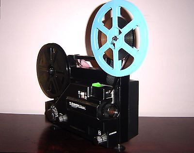 CHINON WHISPER DUAL 8mm Variable Speed Movie Projector for Transfer films