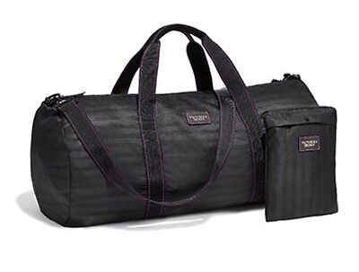 VICTORIA'S SECRET WEEKENDER DUFFLE BAG - LIMITED EDITION Pure Black - RP$58 -NEW