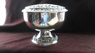 Vintage silver-plated rosebowl by Ianthe