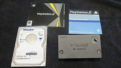 NETWORK ADAPTER + HARD DISK + ACCESS DISC per PS2 ! Adattatore di rete completo