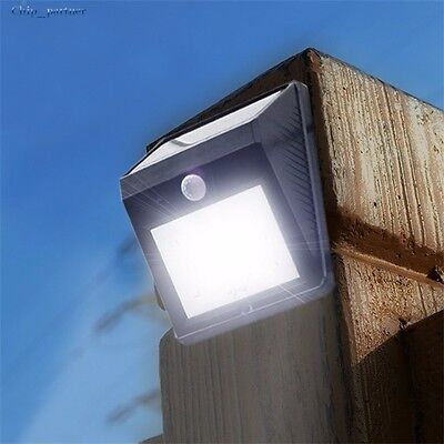 4 Pack Solar Power Sensor Wall Light Security Motion Weatherproof Outdoor Lamps