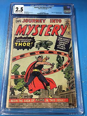 Journey into Mystery #83 CGC 2.5 OW/W 1st Thor 1962 Canada Seller