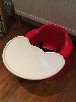 Red Bumbo Seat With Tray And Straps