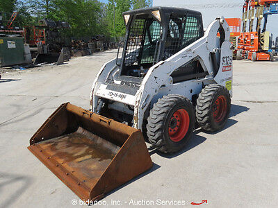 2013 Bobcat S185 Skid Steer Wheel Loader Enclosed Cab Aux Hyd bidadoo