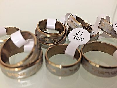 SHEMA ISRAEL Stainless RING Silver Gold Color Shma Israel Jewish Judaica Gift